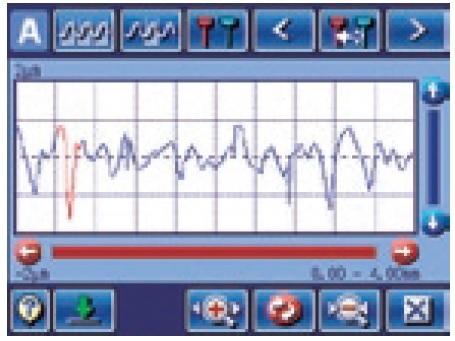 Pomiar_chropowatości_powierzchni_-_chropowatościomierz_SJ-310_-_Kasowanie_niepotrzebnych_danych_podczas_pomiaru