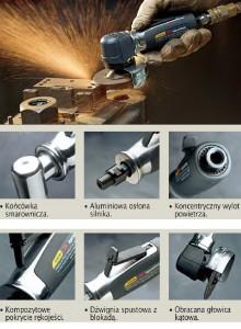 Wyposażenie standardowe szlifierki pneumatyczne serii Revolution